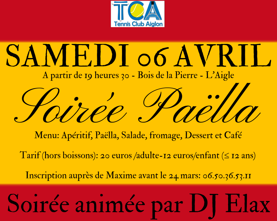 Affiche FB Paella